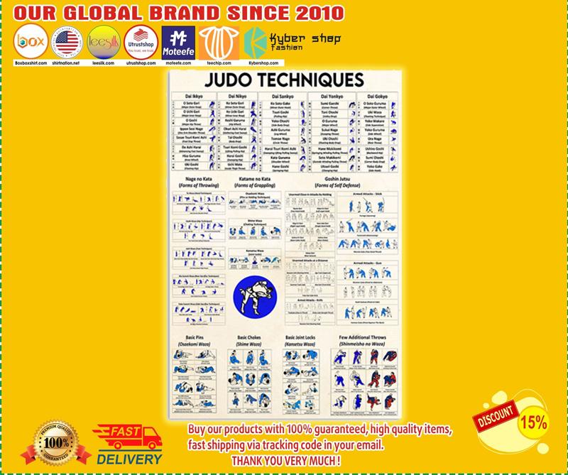Judo techniques poster 3