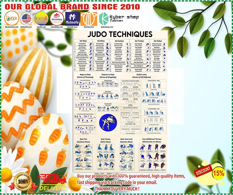 Judo techniques poster 4