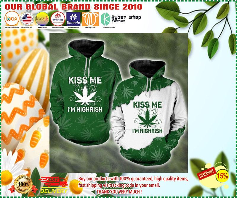 Kiss me I'm highrish couple 3d hoodie 9