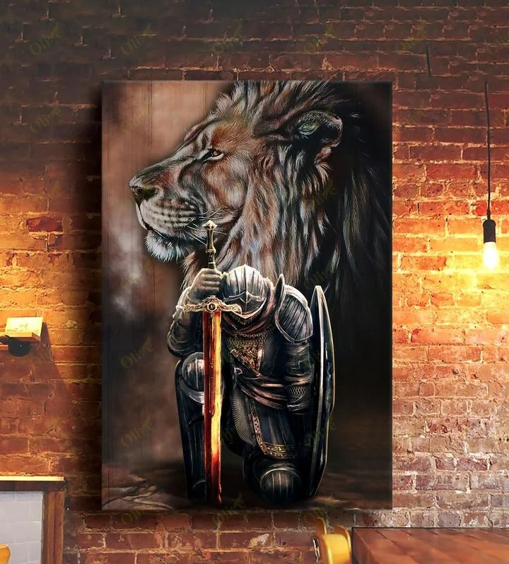 Lion and Warrior knight Canvas 9