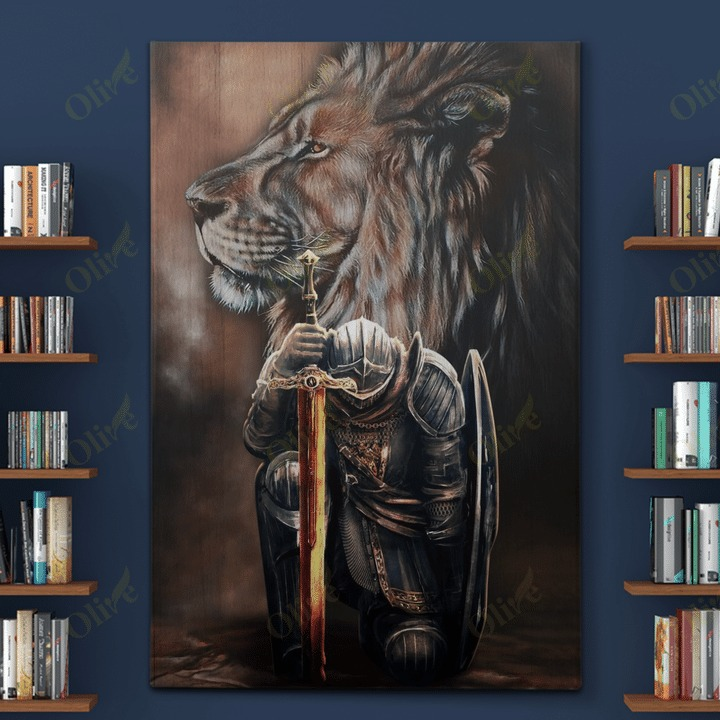 Lion and Warrior knight Canvas 10