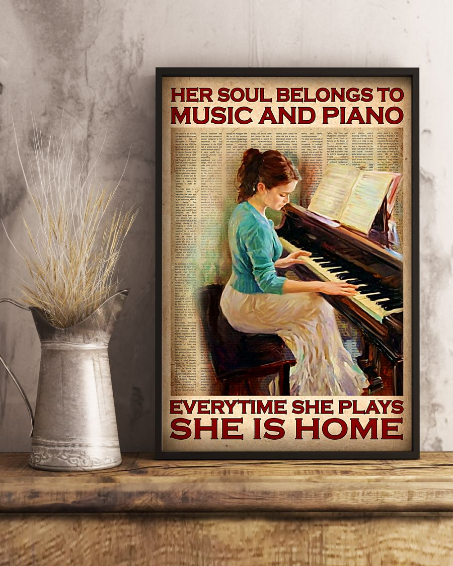 Poster Her soul belongs to music and piano everytime she plays she is home 11