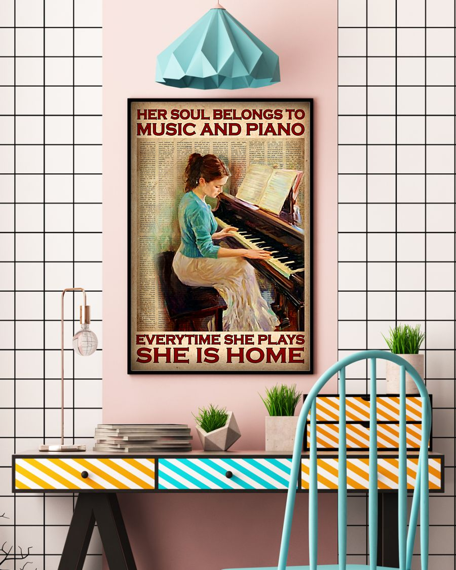 Poster Her soul belongs to music and piano everytime she plays she is home 10