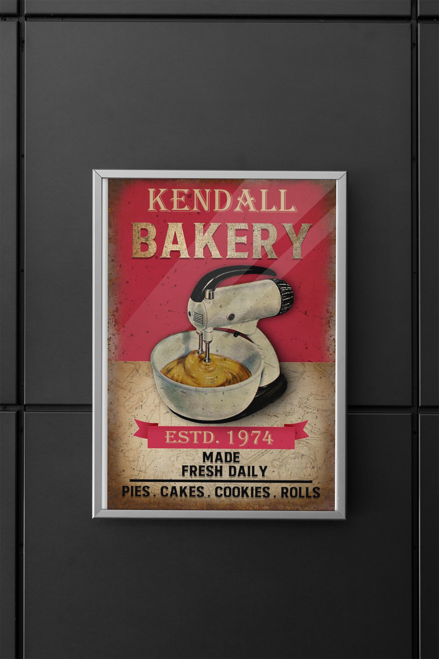 Poster Personalized name bakery made fresh daily 12
