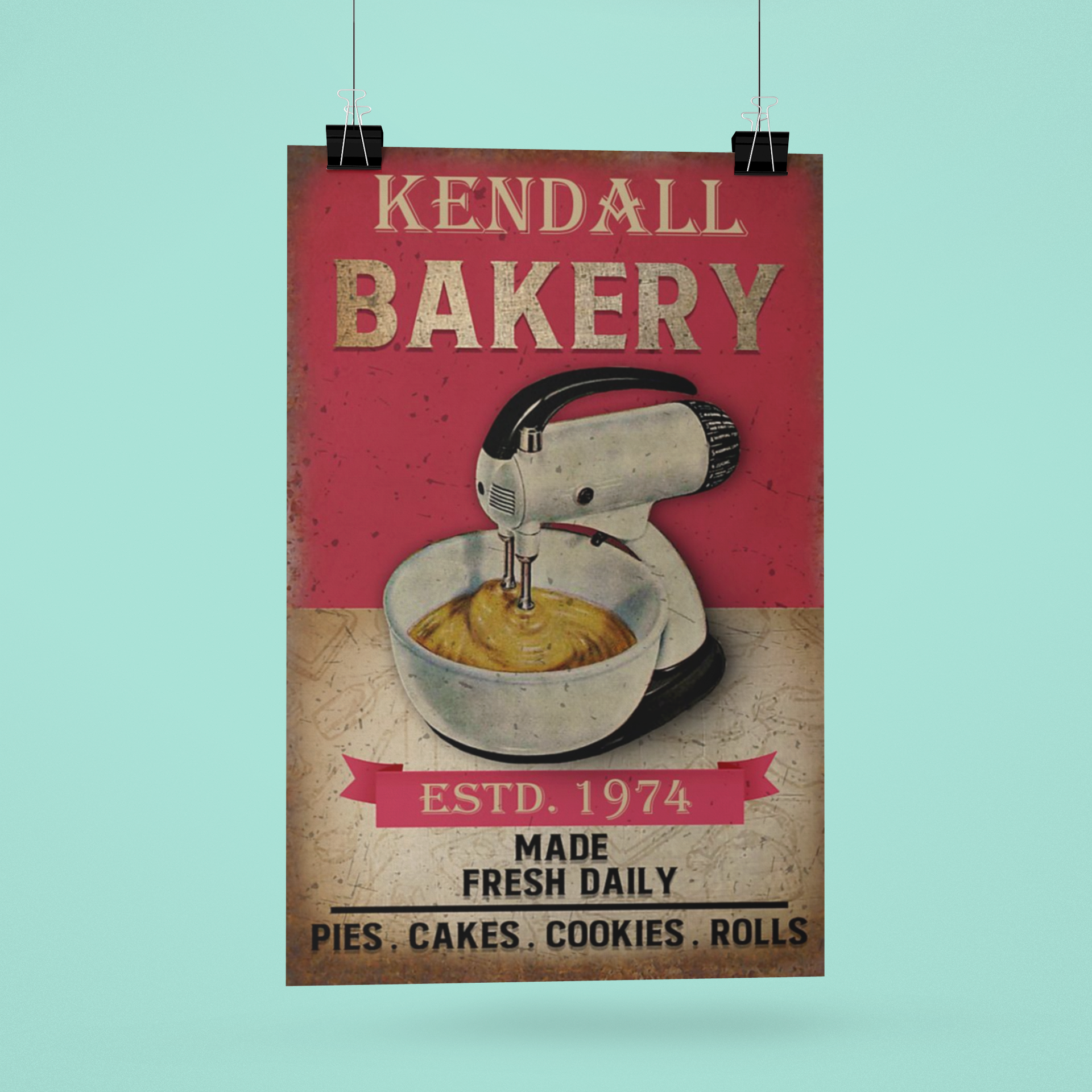 Poster Personalized name bakery made fresh daily 11