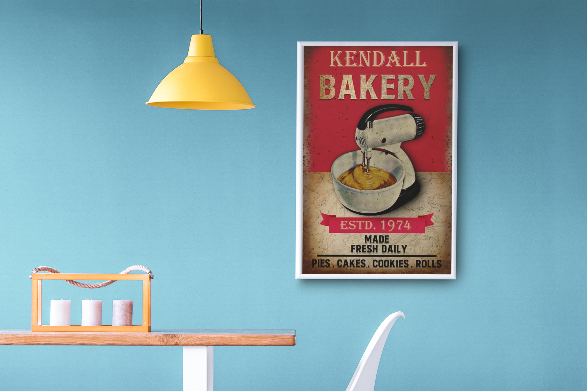 Poster Personalized name bakery made fresh daily 15