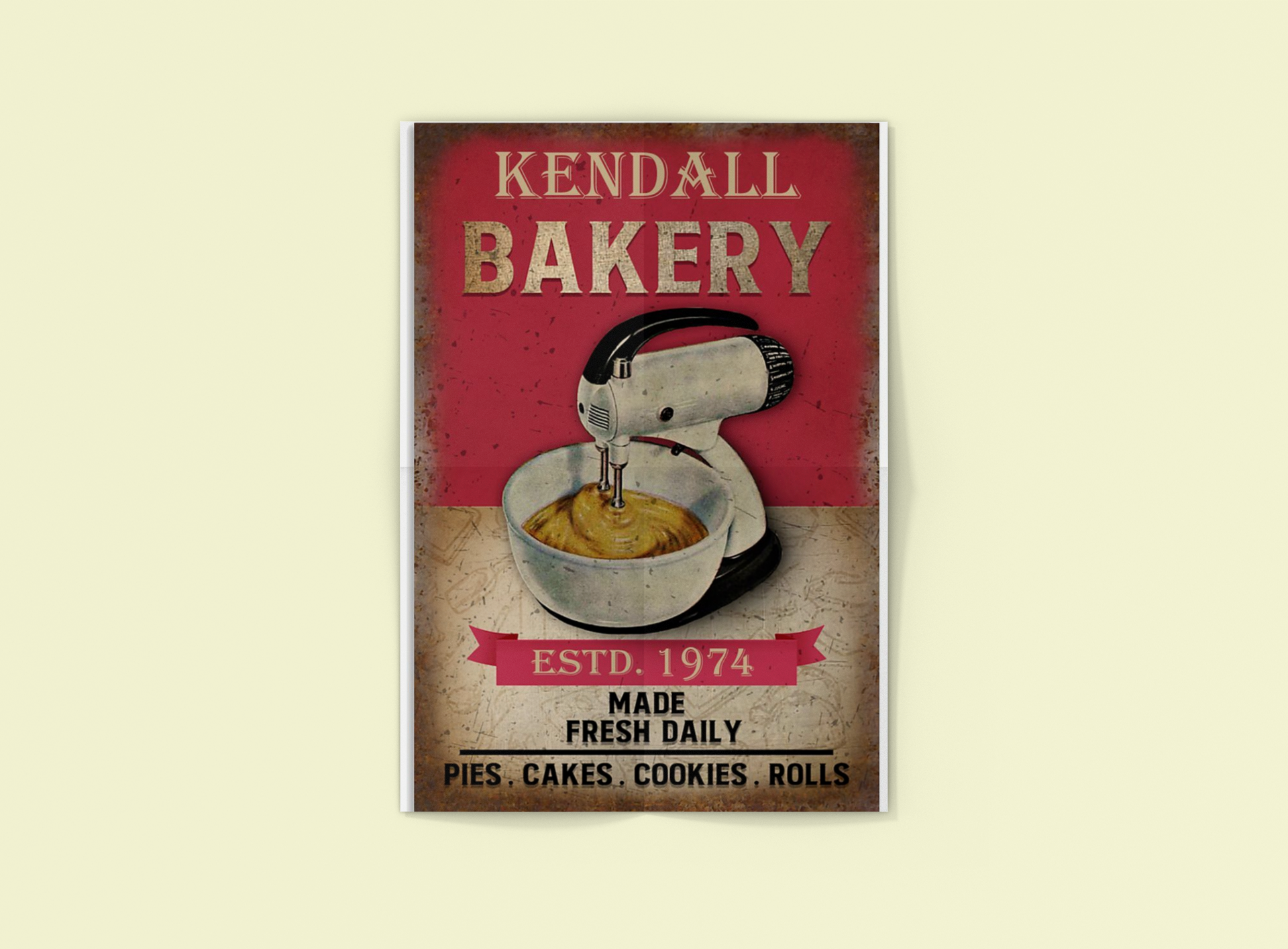 Poster Personalized name bakery made fresh daily 14