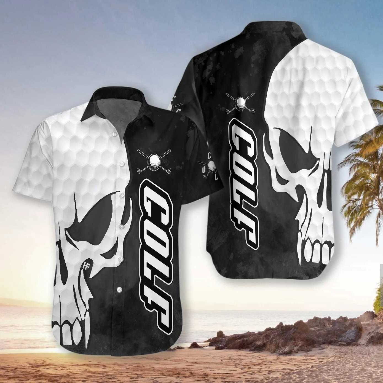 Skull and golf hawaiian 11