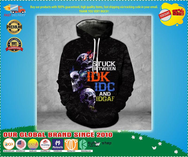 Skull stuck between thoughts dark 3d hoodie 7