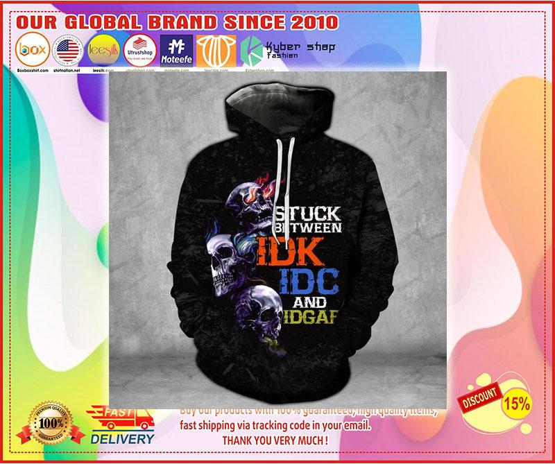 Skull stuck between thoughts dark 3d hoodie 8