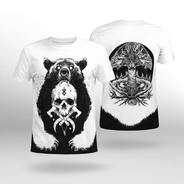 Viking bear 3D hoodie 10
