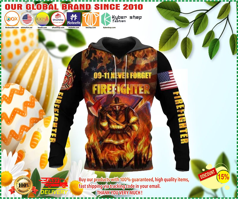 09-11 never forget firefighter 3D hoodie 11