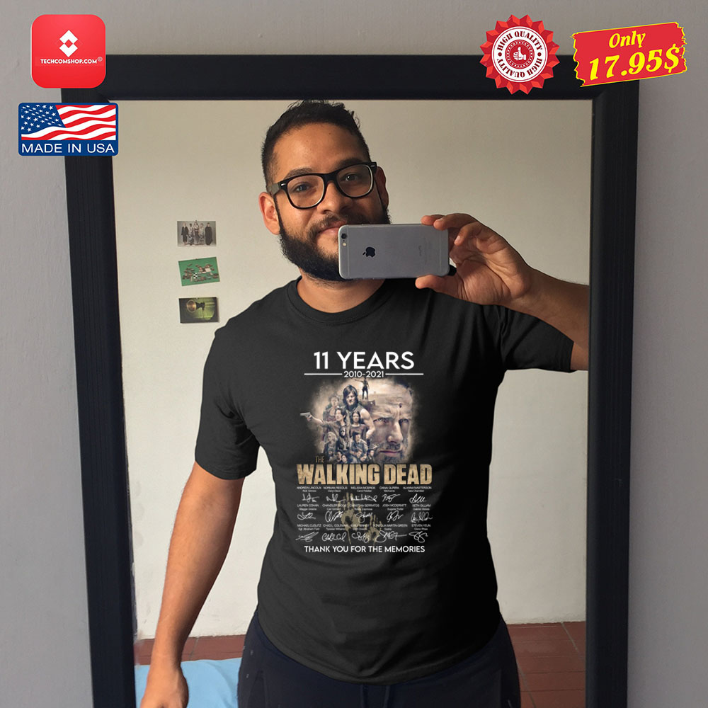 11 years 2010 2021 The walking dead thank you for the memories Shirt 10