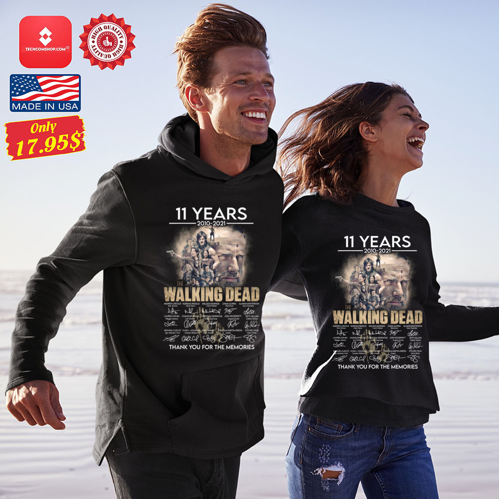 11 years 2010 2021 The walking dead thank you for the memories Shirt 11