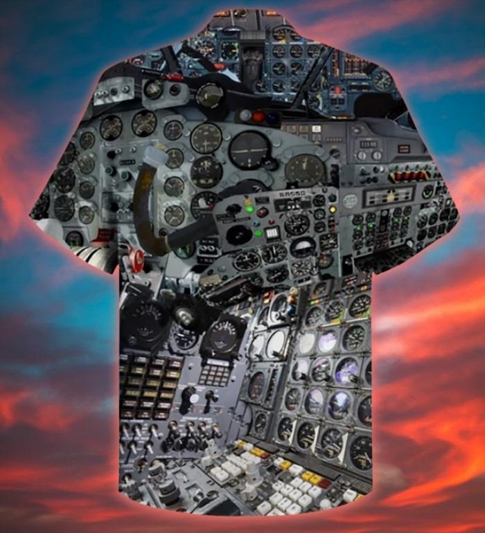 A pilot clock hawaiian shirt 10