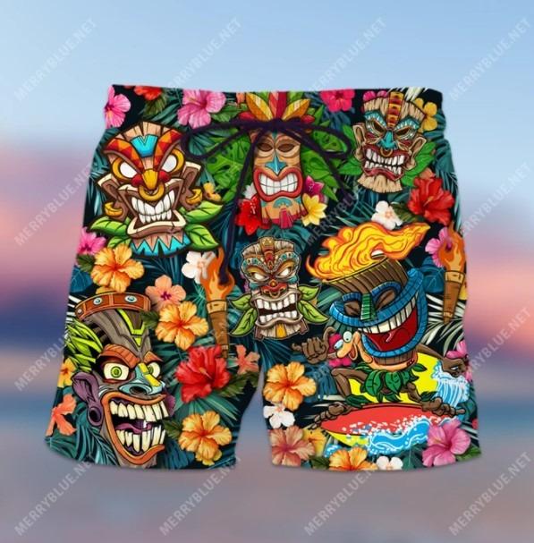 Aloha tiki tiki hawaiian shirt 4