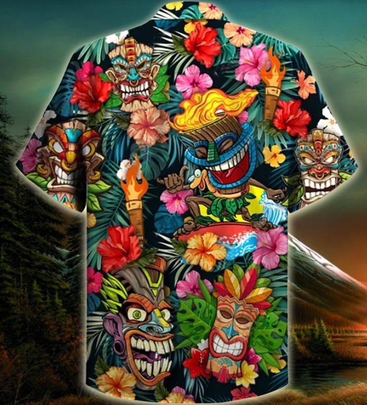 Aloha tiki tiki hawaiian shirt 11
