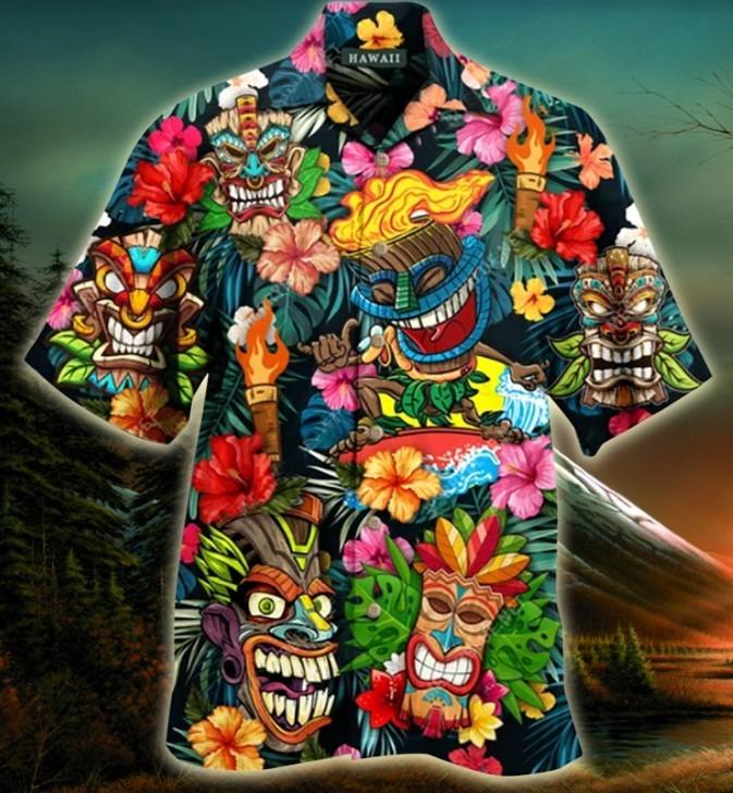 Aloha tiki tiki hawaiian shirt 10