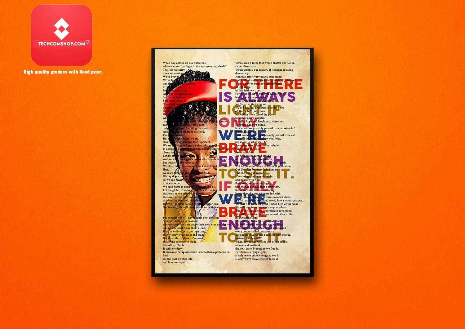 Amanda Gorman for there is always light if only we're brave enough to see it poster 8