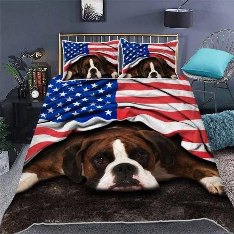 American flag Boxer patriot bedding set 10