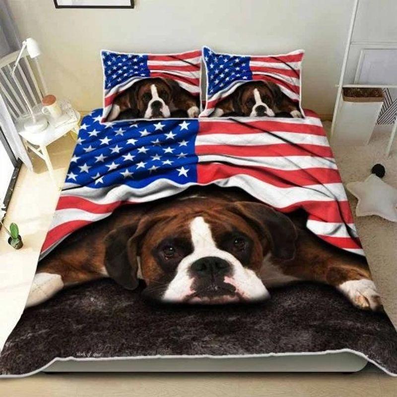 American flag Boxer patriot bedding set 11