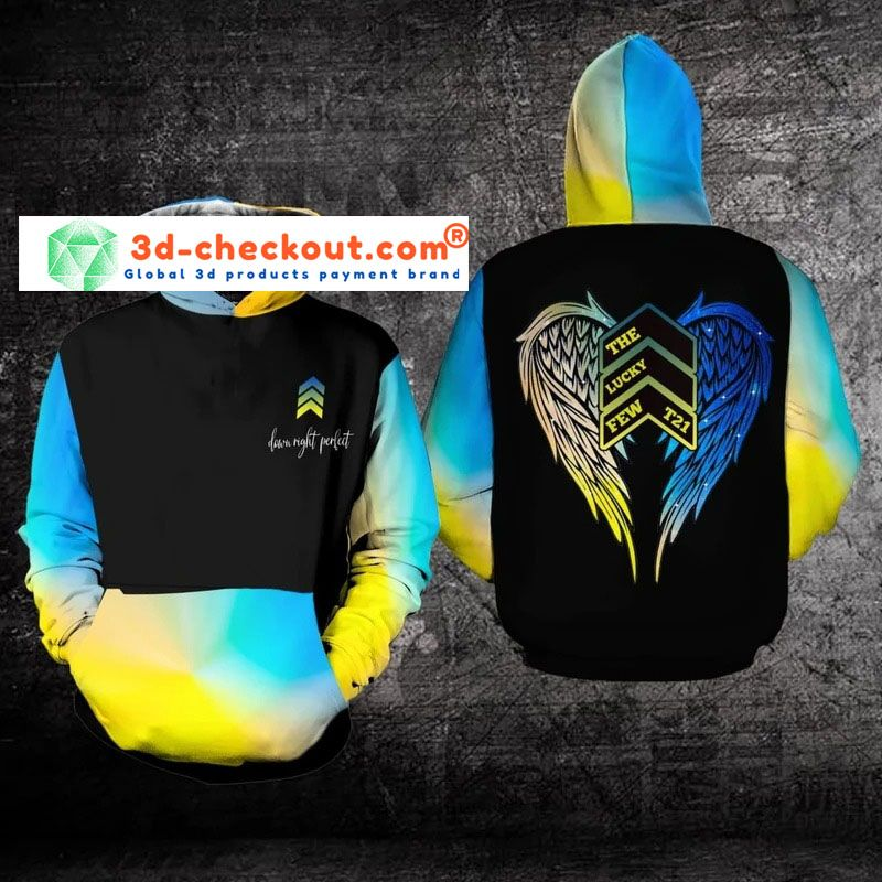 Awareness Down night perfect the lucky few 3D hoodie 9