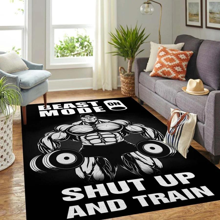 Beast shup up and train rug 10