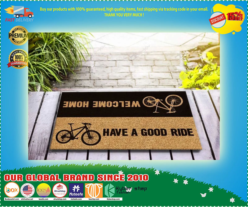 Bicycle welcome home have a good ride doormat 9