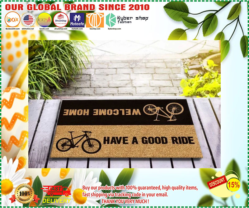 Bicycle welcome home have a good ride doormat 10
