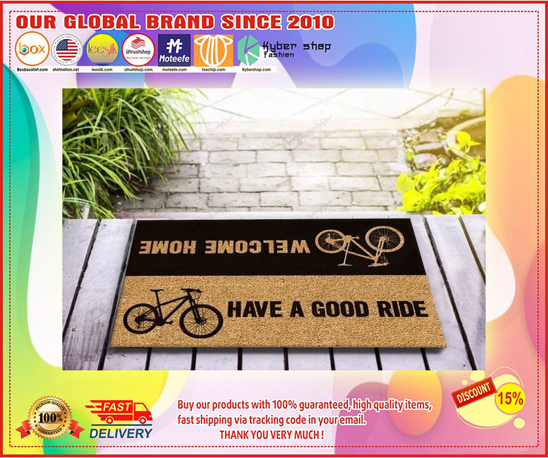 Bicycle welcome home have a good ride doormat 11