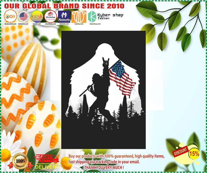 Bigfoot American flag sticker 11