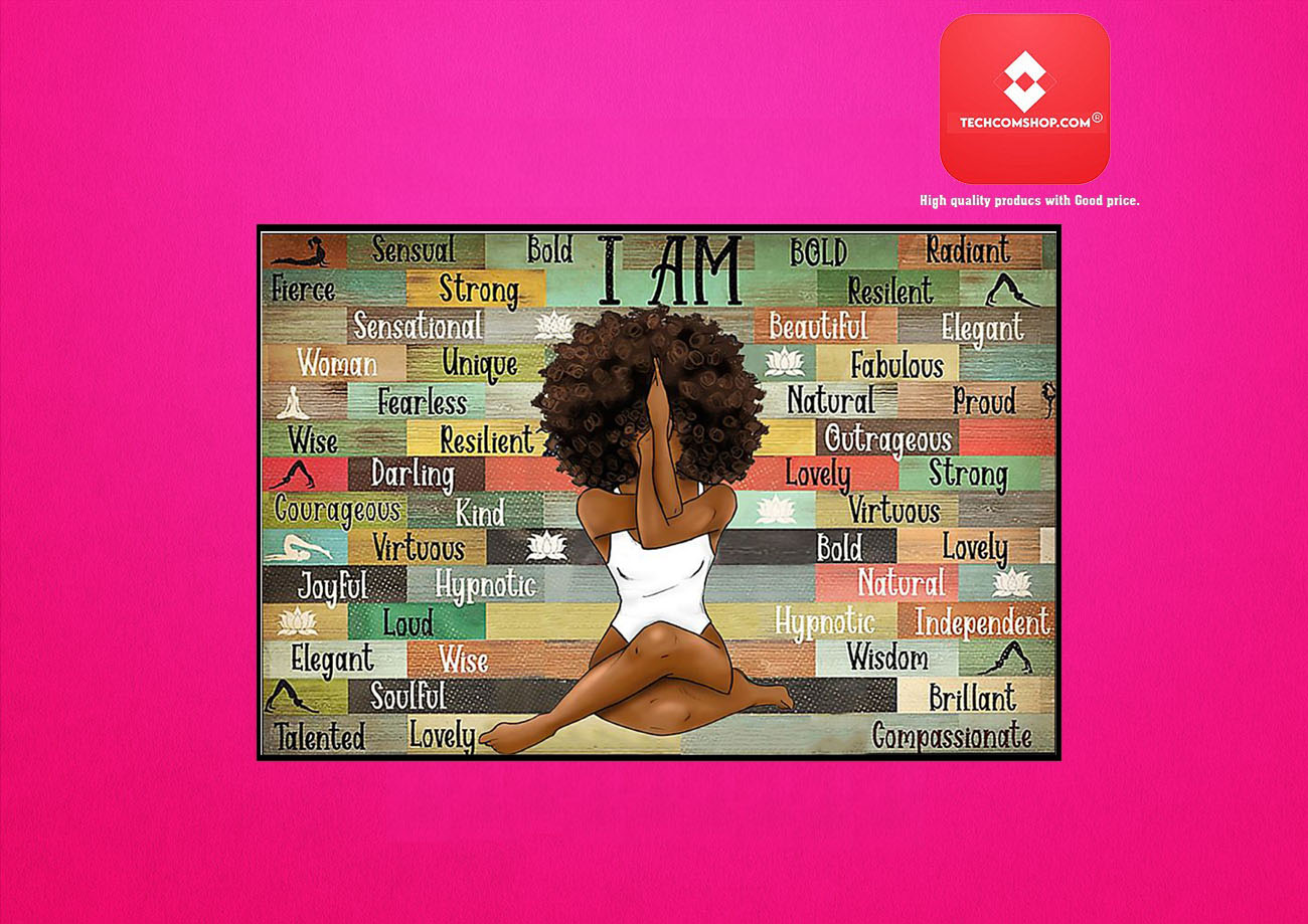 Black girl with yoga I am poster 8