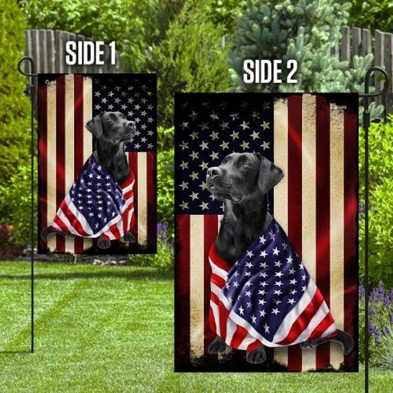 Black labrador retriever american patriot flag 9