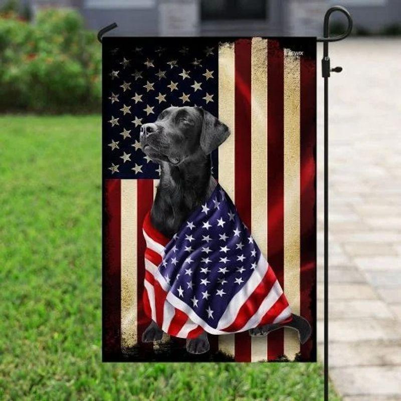 Black labrador retriever american patriot flag 10