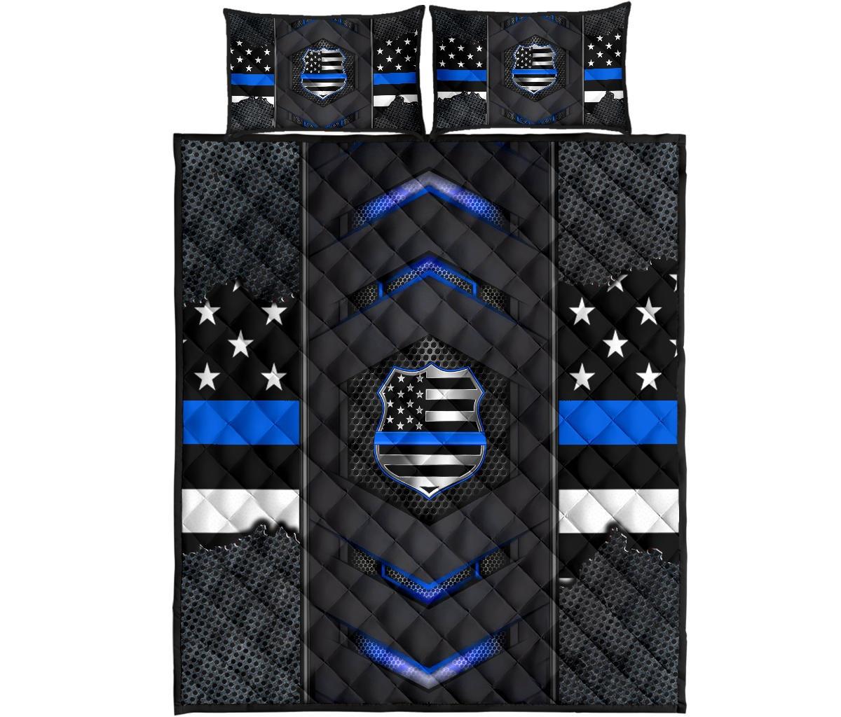 Blue US flag bedding set 11