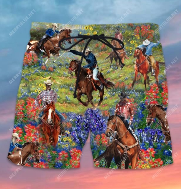 Bluebonnet and texas cowboy hawaiian shirt 11