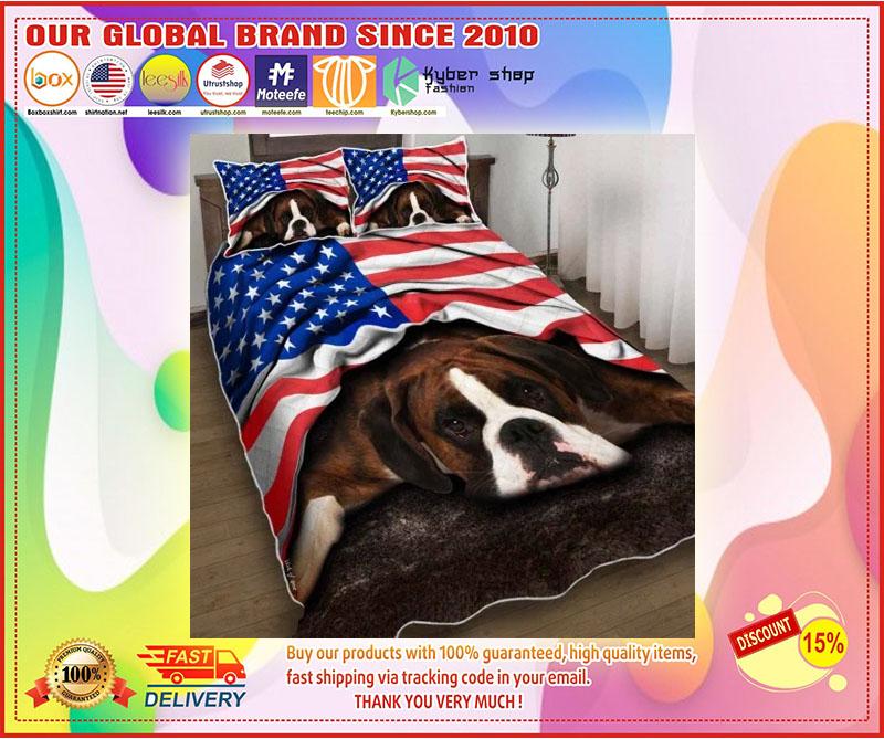 Boxer American patriot bedding set 9