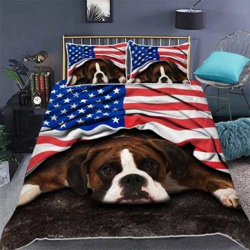 Boxer American patriot bedding set 2