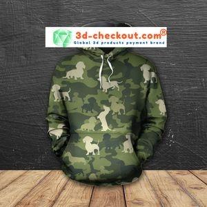 Dachshund camo 3D hoodie, shirt 4