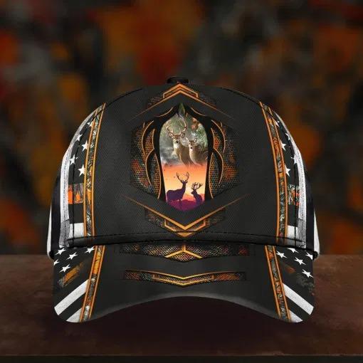 Deer hunter camo custom name cap