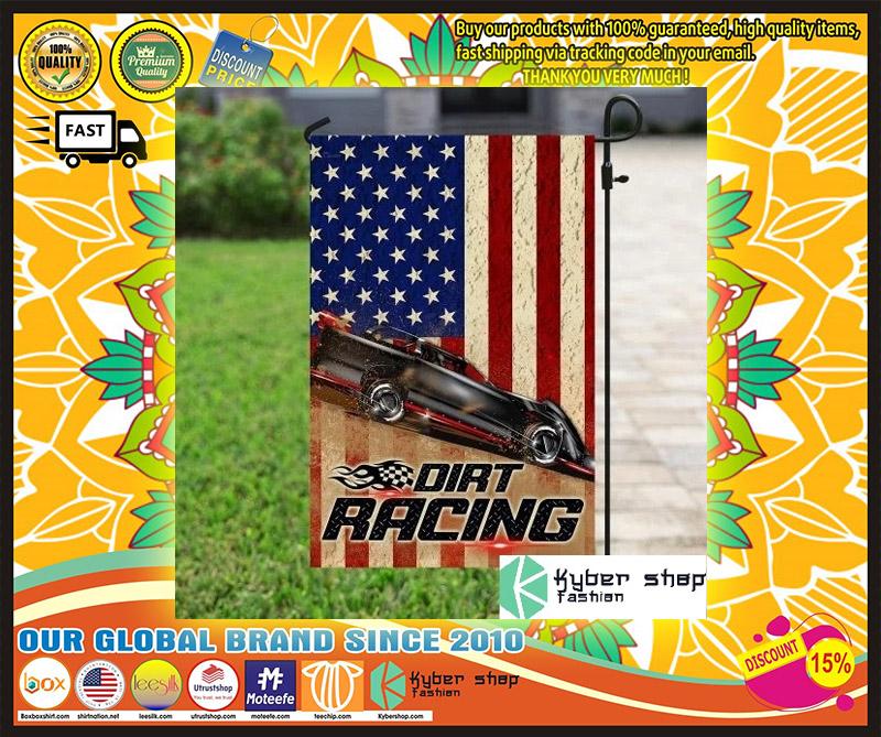 Dirt racing american flag 9