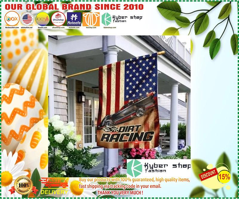 Dirt racing american flag 11