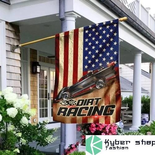Dirt racing american flag 1