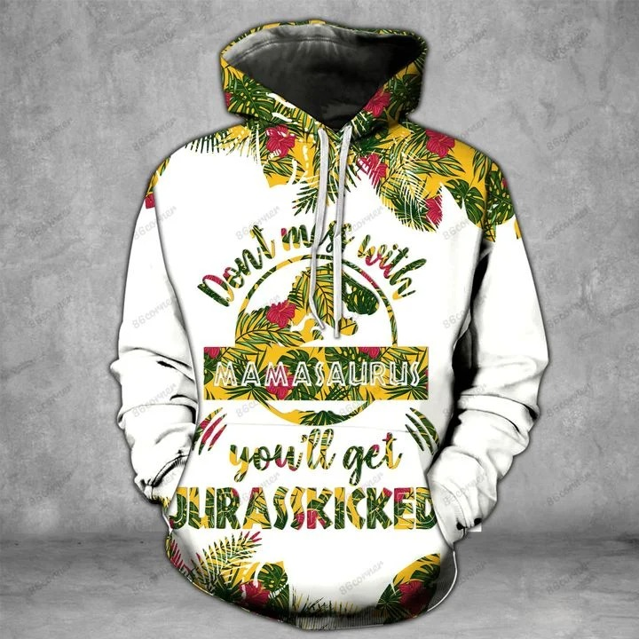 Don't miss with mamasaurus you'll get jarasskicked 3D hoodie and legging 11