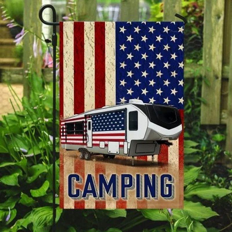 Fifth wheel camper American flag 9