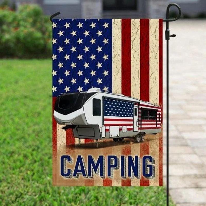 Fifth wheel camper American flag 10