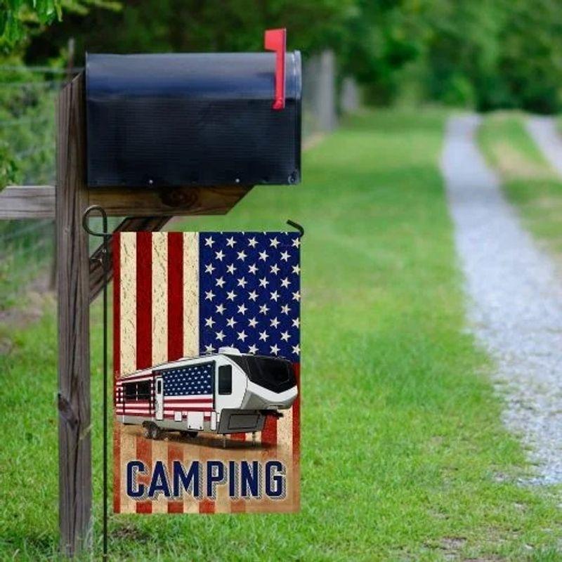 Fifth wheel camper American flag 11
