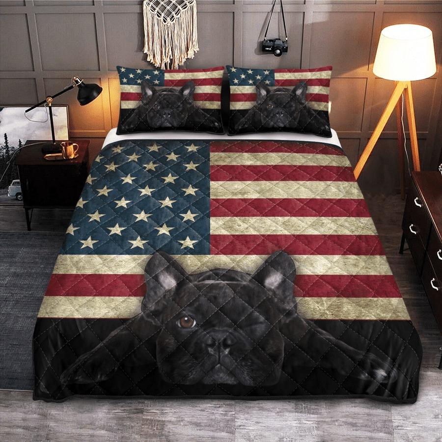 French Bulldog American Flag bedding set 7