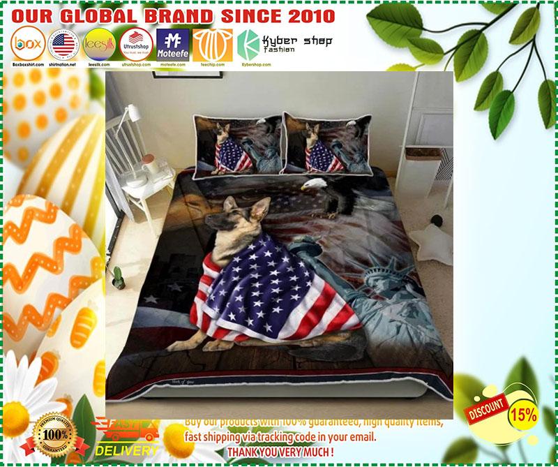 German Shepherd American Patriot Quilt Bedding set 10