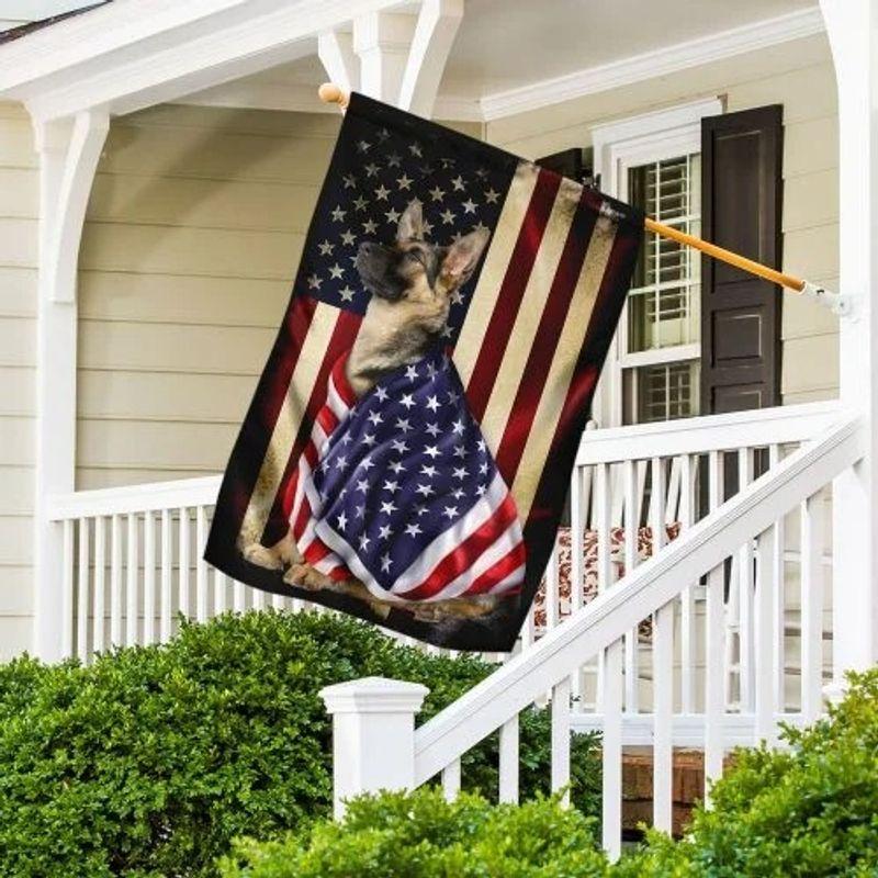 German Shepherd American patriot flag 9